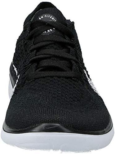 Nike Womens WMNS Free Rn Flyknit 2018 Black/White 942839 001 - Size 6W