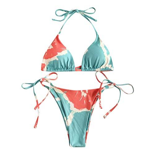 riou Conjuntos de Bikinis para Mujer Push Up con Estampado de Talla...