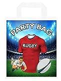 Bolsas para fiestas temáticas de rugby, para botín, eventos, colores rojos, 6 unidades