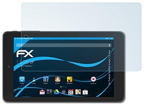 atFolix Schutzfolie kompatibel mit Trekstor SurfTab Breeze 7.0 Plus Folie, ultraklare FX Bildschirmschutzfolie (2X)