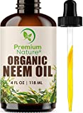 Organic Neem Oil For Skin - Neem Oil for Hair Pure Neem Oil Cold Pressed Neem Oil Essential Neem Oil Organic
