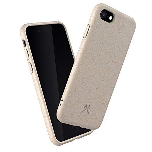 Woodcessories - Bio Hülle kompatibel mit iPhone SE (2020) / 8/7 / 6 / 6s - Nachhaltig, biologisch abbaubar - BioCase Weiß