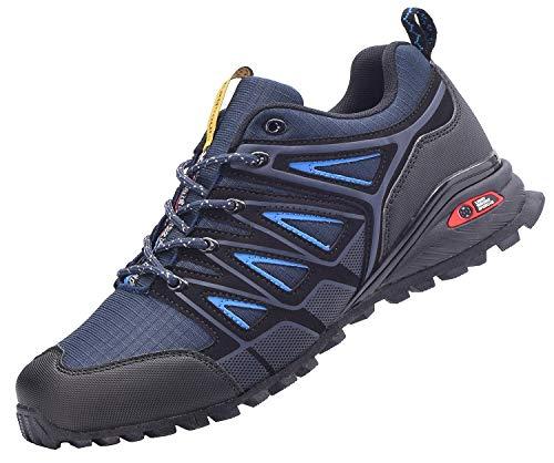 Zapatillas de Trail Running para Hombre Mujer Zapatos para Correr y Aire Libre y Deportes Calzado Deportivos Gimnasio Sneakers - Azul - 47 EU