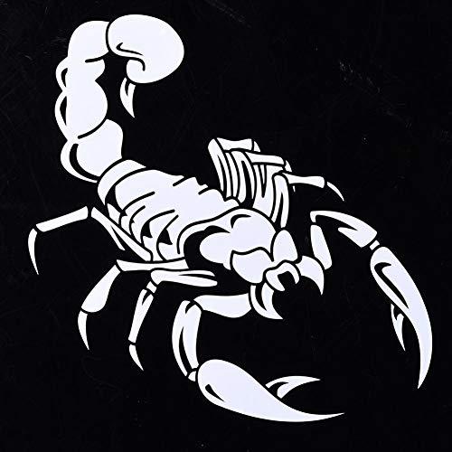 2 Stück, Auto Aufkleber, kreative Persönlichkeit Stil vorne und hinten reflektierende Skorpion weiß Skorpion Aufkleber Auto Aufkleber lustige Vinyl Aufkleber, Fenster Aufkleber Auto Stoßstange