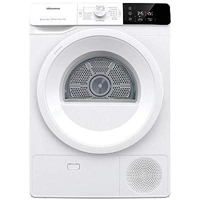 Hisense DHGE901 Heat Pump Dryer, 9 kg, Twin Air Technology, Digital Display, White