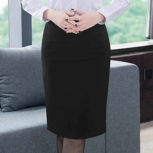 LYNLYN Vestidos de cócteles para Mujer Falda De Lápiz De Mujer Elegante Coreana Estilo Olla Grande Talla Grande De La Cintura De Alta Rodilla Longitud De La Rodilla Oficina De Trabajo Bodycon Fald