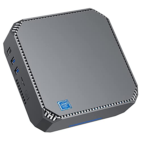 NiPoGi Mini PC Windows 10 Pro, Intel Celeron J3455 Portable Business Office Desktop PC,6GB RAM 128GB ROM PC Rechner,Unterstützt 4K Dual HDMI,Gigabit Ethernet,Dual WiFi,BT4.2, Wake On LAN Micro PC