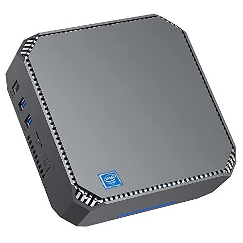 NiPoGi Mini PC, 8 GB RAM 256 GB SSD Intel Celeron J3455 Micro Desktop PC Windows 10 PRO, 2.4G+5G Dual Band WiFi, BT 4.2, Gigabit Ethernet, 2X HDMI 4K HD, Kleiner Computer für Home Business und Office