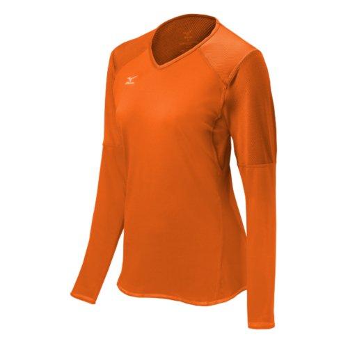 Mizuno Damen Techno VI Langarm-Volleyball-Trikot, Orange (Blazin Orange), XL