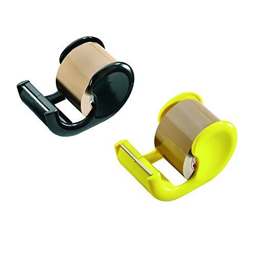NoName 10513729 Packband mit Abroller, 33 m x 38 mm, braun, Abroller farbig sortiert - keine Farbe auswählbar!, 1 Stück