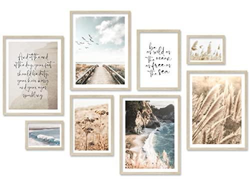 ARTFAVES® Poster Set - BEIGE SEA Pampas