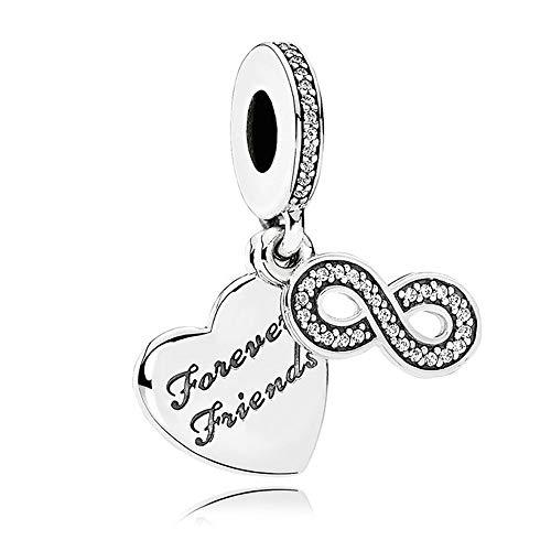 PANDOCCI Regali fai da te per pandora charms wristband autunno per sempre amici con chiaro zirconi 100% tallone gioielli in argento 925