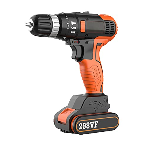 18V Lithium-Ion Combi Drill, Electric Screwdriver, Cordless Drill Driver, 2 Quick Change Battery & 1 Charger Included (Cordless Drill & Kit)