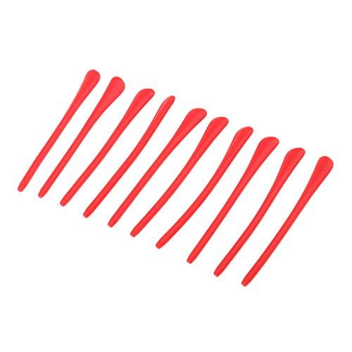 perfk 10pcs-Set Silikon Überzüge für Brillenbügel Rutschfeste Sport Brillen Bügelenden - Rot