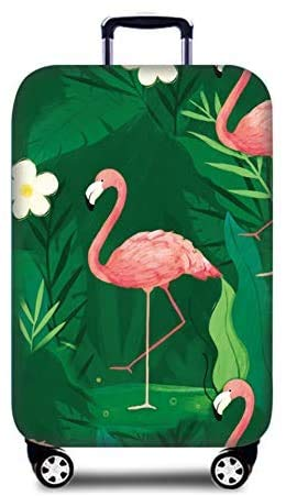Suitcase Cover Luggage Trolley Case Protective Cover Cute Flamingo Travel Luggage Cover Suitcase Protector Fits for 26-28 Inch Luggage (L)
