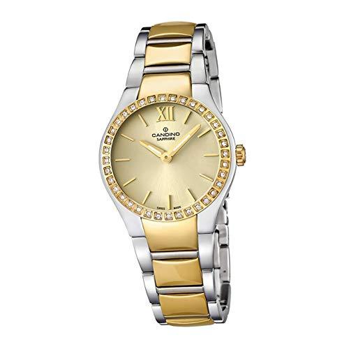 Candino Reloj de pulsera para mujer C4538/2, de lujo, mecanismo de cuarzo, acero inoxidable, plateado, D2UC4538/2, un regalo para Navidad, cumpleaños, día de San Valentín para la mujer
