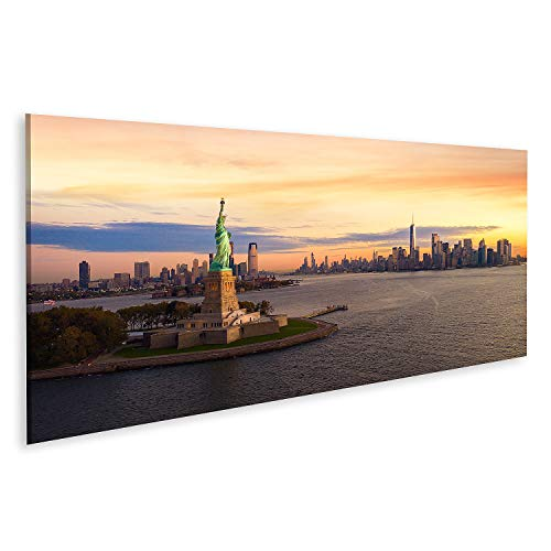 Bild auf Leinwand Freiheitsstatue in New York City Bilder Wandbild Poster Leinwandbild