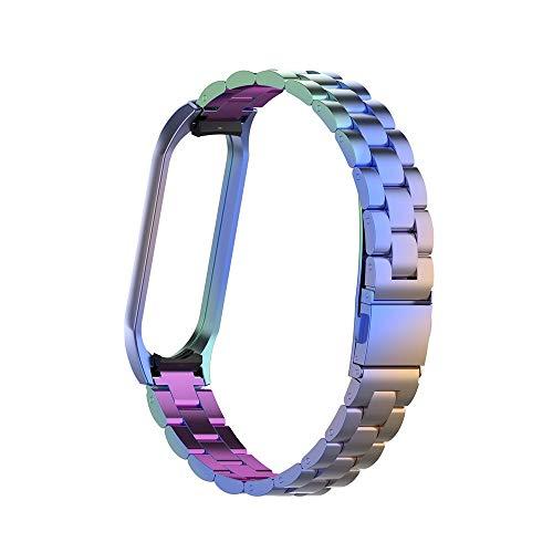Uhrenarmband für Xiaomi Mi Band 4, veyikdg Unique Luxury Classic Edelstahl Ersatz-Uhrenarmband Metall-Armband für Xiaomi Mi Band 4 (C)