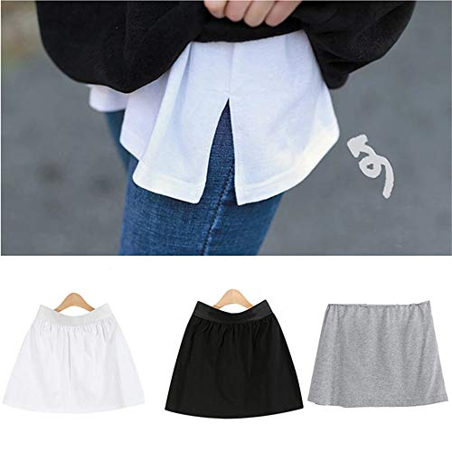 1/2/3pcs Adjustable Layering Fake Top Lower Sweep Set Skirt, Half-Length Splitting a Version Versatile Fake Hem for Sweater Sweatshirt Jacket (3pcs)
