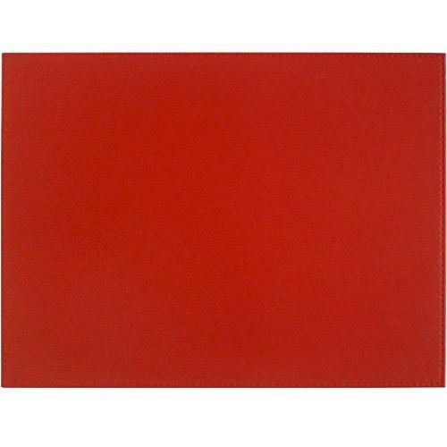 Freeform Tisch-Sets von, Kunstleder, Schwarz/Rot, 40x 30cm