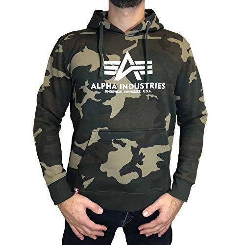 ALPHA INDUSTRIES Kapuzenpullover Basic Camouflage (XXL, Woodland Camo)