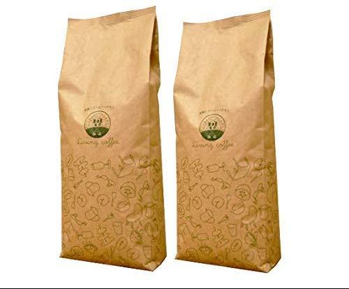 コーヒー豆 2キロ ランキング アラビカ100% 2kg QueenVoyage 中煎り焙煎 豆のまま ブラジル/コロンビア/ホンジュラス