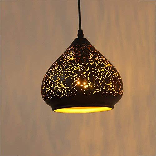 HUAXUE ZHXZHXMY Boutique Lighting - Botella Gaoli nórdica del Hierro labrado de la Vendimia Industrial Style Cafe Vino de la lámpara de la Personalidad Creativa del Restaurante Bar Araña, K