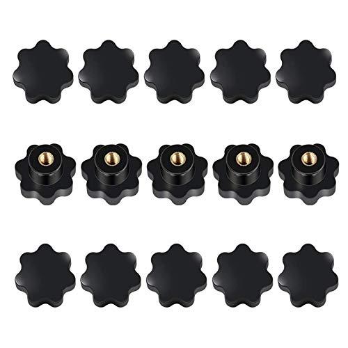 15 Stück M8 Innengewindeklemmknopf, Sterngriffmutter M8, Sternform Kopf Innengewinde, für Werkzeugmaschinen, Mechanische Geräte, Möbeldekoration, Elektronische Geräte