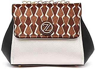 Zeneve London Katie Shoulder Bag For Women, Silver,117Cb1-2
