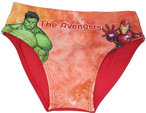 Costume Avengers Hulk e Iron Man Mare Bambino Originale Marvel Slip Bagno da 4 Anni a 10 Anni (10 Anni)