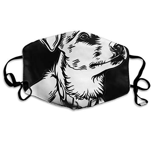 Unisex Masken Hund Jack Russell Terrier Logo Veterinär Lustige Gesichtsmaske Gesichtsmasken