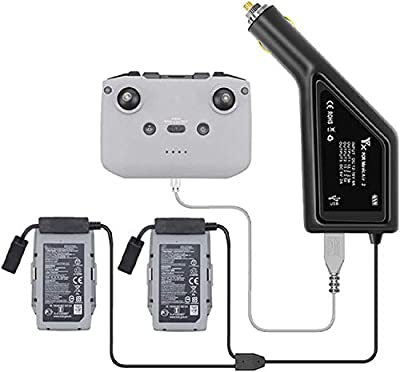 STARTRC Mavic Air 2 Car Charger, 3in1 Intelligent Battery Charger for DJI Mavic Air 2 Accessories(Charge 2 Batteries &Remote Controller)
