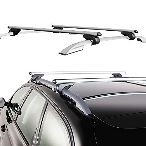Rebeca Shop - Barre universali Portapacchi per Auto 120cm con Barre longitudinali Gia montate