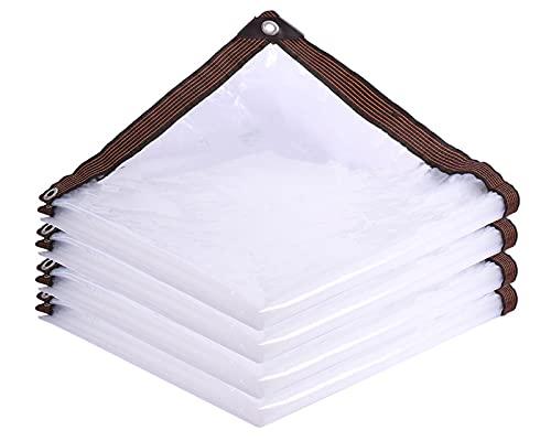 F-XW Tenda Grande Telo Trasparente Veranda Telone Impermeabile con Occhielli per Il Tetto del Patio Campeggio all'aperto Gabbia per Animali Domestici 2x3m/3x4m/3x6m/4x5m/5x7m/6x8m/8x9m/10x12m/12x12m