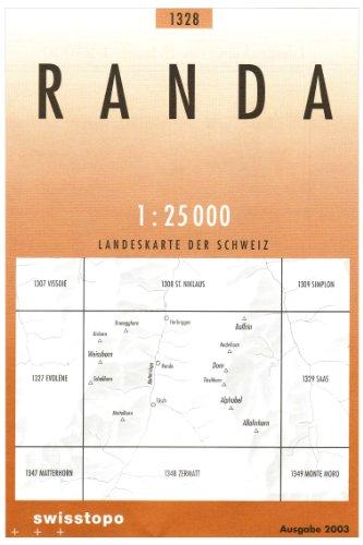 1328 Randa: Weisshorn - Täsch - Dom (Landeskarte 1:25 000)