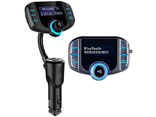 auvisio DAB Adapter: Kfz-DAB+-Empfänger, FM-Transmitter, Bluetooth, Freisprecher, AUX, USB (DAB Auto Adapter)