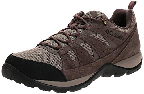 Columbia Men's Redmond V2 Hiking Shoe, Pebble/Dark Adobe, 10.5