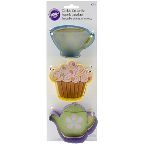 Wilton Tea Party Colored Metal Cutter Set, 3-Piece