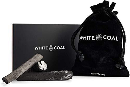 McBrikett WHITE COAL - Binchotan, Holzkohle, Aktivkohle | 1kg | Edel verpackt