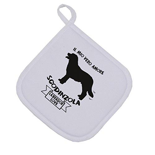 bubbleshirt Presina Il Mio Vero Amore scodinzola - Labrador - Love - Dog - Idea Regalo - Dimensioni: 17cm x 17 cm