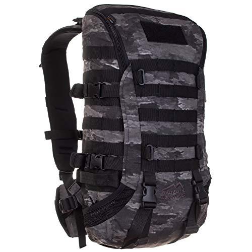 Wisport militärischer Rucksack Molle Damen Herren + inkl. E-Book | Outdoor Tactical Backpack Camouflage | Military Pack taktisch | Survival | Cordura | A-TACS LE Ghost | Zipperfox 25 L