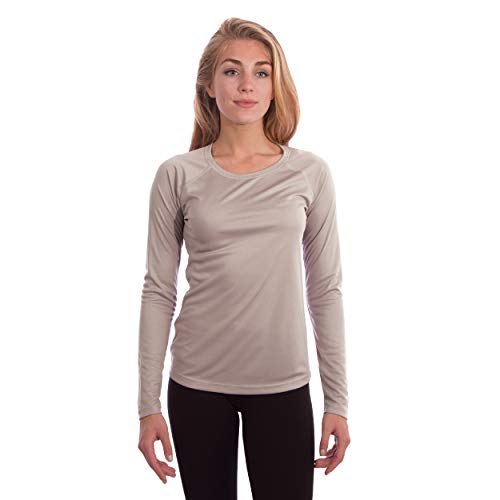 Vapor Apparel - Performance Maglietta Donna a Maniche Lunghe con Protezione UPF 50+ - Grigio Athletic - X-Small