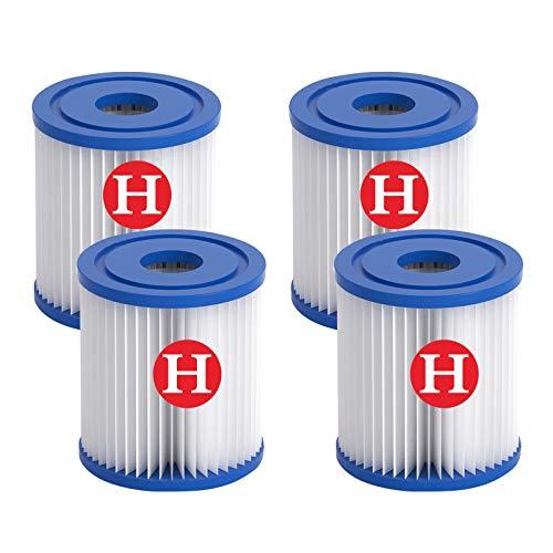 Cartucho de filtro tipo H para piscinas, filtro de repuesto para piscinas Intex H, bomba de cartuchos de filtro, filtro de piscina apto para jacuzzi, piscina sencilla (4)