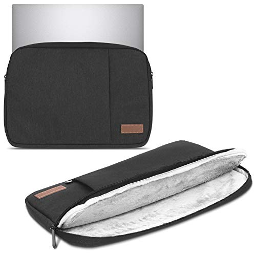 Notebook Sleeve Tasche kompatibel mit HP 255 G6 Hülle Schwarz Schutzhülle Hülle Laptop Cover