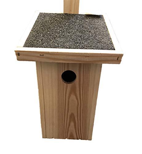Nistkasten Großer Holz, Vogelhaus, Nisthaus (gegen Nesträuber)