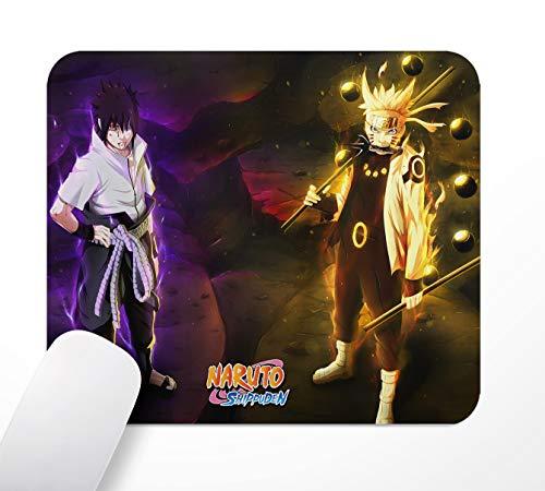 Tapis de Souris de Bureau de Jeu, Anime Sasuke & Naruto, Tapis de Souris antidérapant à Base de Caoutchouc, 24 × 20 cm
