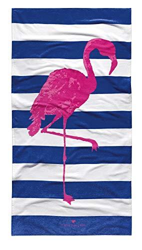 Tom Tailor Strandtuch Flamingo Style, weiß, 85 x 160 cm, Duschtuch, Badetuch, Badezimmertuch, Badezimmerzubehör, Liegetuch