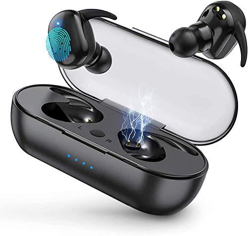 Cuffie Bluetooth 5.0, Auricolare Bluetooth senza fili, 24h Playtime 3D Stereo HD Cuffie Wireless, Cuffie In-Ear con Controllo Touch, IPX7 Impermeabili