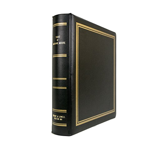 Trust Portfolio with Trust of Client's Name and Firm Name Gold Lettered on The Binder, Includes 10-Part Trust Index, from Blumberg, Plush Raven Binder