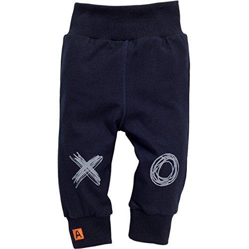 Pinokio - Xavier - Baby Hose, Leggins 100% Baumwolle, Schwarz X O - Jogginghose, Pumphose Schlupfhose- elastischer Bund, Jungs (68)